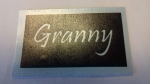 Granny word stencils for etching on glass   Mothers Day gift present glassware hobby craft